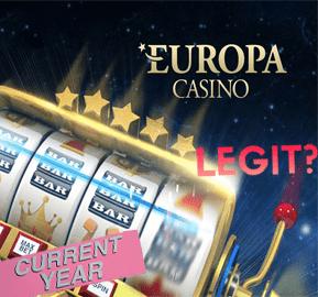 Is Europa Casino Legit? redmoongames.com